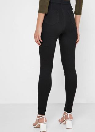 Черные джинсы скинни высокая талия dorothy perkins