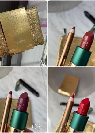 Подарочный набор kiko milano holiday gems. помада-карандаш-косметичка.