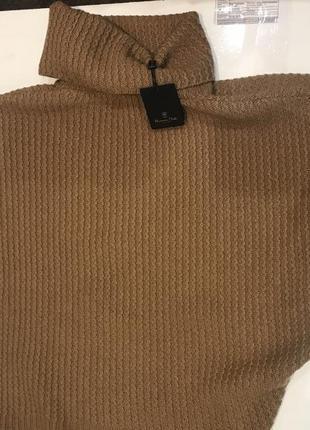 Женский свитер летучая мышка коричневый вязаный massimo dutti oоригинал3