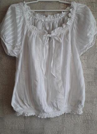 Суперлегкая хлопковая блузочка для стройной девушки.