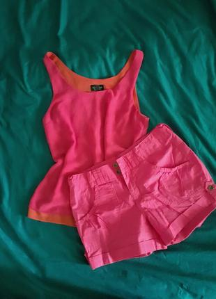 Літній костюм комплект шорти топ