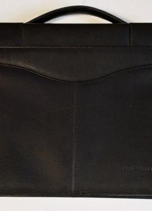 Папка портфель для бумаг кожанный а4