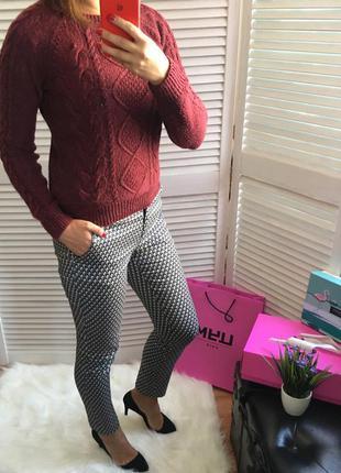 Марсала свитер тёплый шерстяной h&m