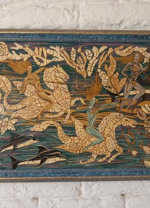 Картина с элементами мозаики