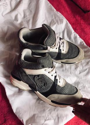 Chanel кроссовки кожа номерные