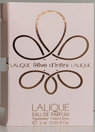 Парфюмированная вода  женская (пробник) lalique reve d'infini