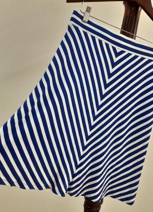 Трикотажная летняя расклешенная юбочка tom tailor