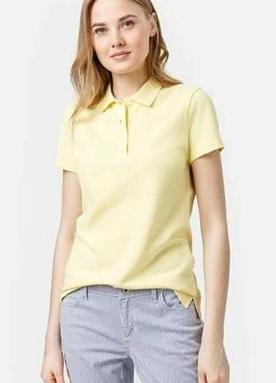Поло футболка нежно лимонного цвета isle