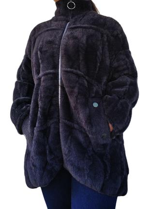 Красивая женская кофта альпака, кардиган большой размер, батал