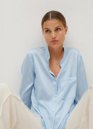 Шелковая блузка рубашка зара zara