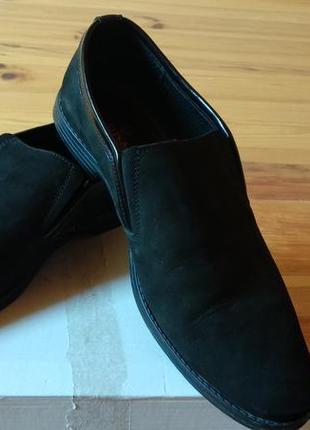 Чоловічі натуральні замшеві туфлі всередині шкіра розмір 42 устілька 28