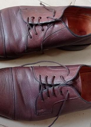 Демисезонные мужские кожаные туфли samuel windsor, англия, оригинал, р. 44, кожа