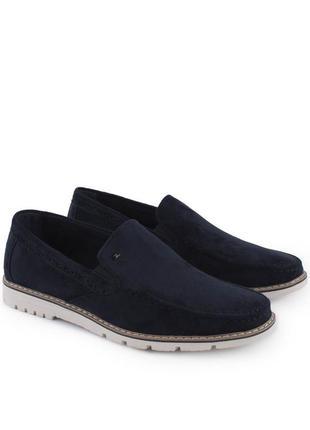 Синие мужские туфли