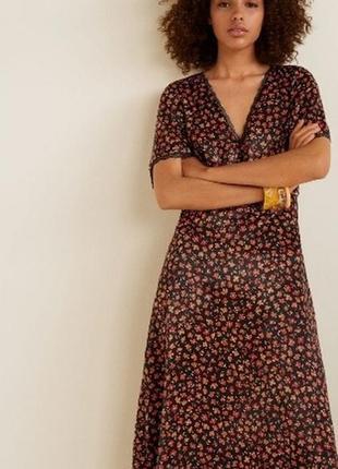 Стильное платье миди в цветочный принт плаття сукня mango