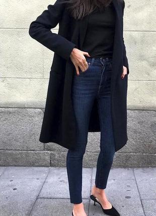 Суперовые джинсы с высокой посадкой mango р xxs
