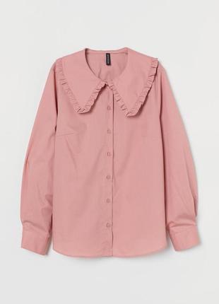 Блуза рубашка с воротником