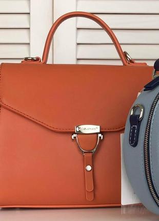 David jones клатч сумка 5706 оранжевый коралл6 фото
