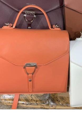 David jones клатч сумка 5706 оранжевый коралл7 фото