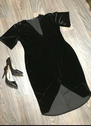Черное платье boohoo