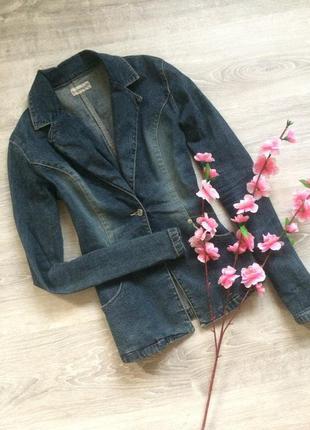 Стильный джинсовый пиджак clockhouse