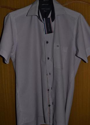 Рубашка мужская tommy hilfiger  с коротким рукавом для мальчика 14 лет