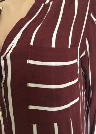 Рубашка блузка удлиненная в полоску