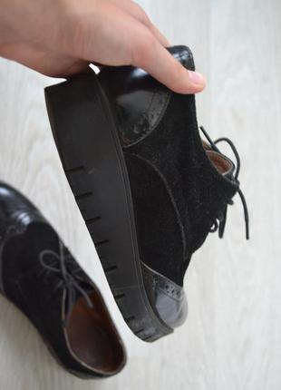 Туфли-ботинки осенние оксфорды кожаные /классические туфли geox