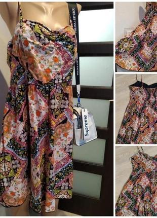 Тонкий лёгкий сарафан платье мини