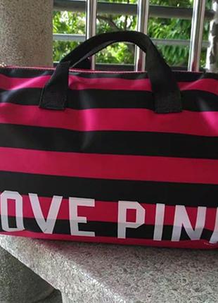 Полосатая спортивная сумка victoria`s secret