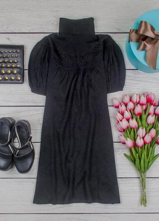Платье туника трикотажное черное с люрексом от atmosphere размер uk 10 наш р. 44