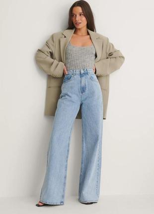 Актуальные голубые прямые широкие мом джинсы трубы клёш wide leg levis mom fit zara