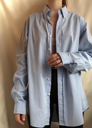 Винтажная рубашка в полоску polo golf  ralph lauren вінтаж ретро