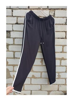 Идеальные штаны на резинке  с лампасами new look