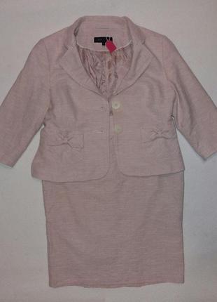 Нежный, пудровый, деловой, праздничный костюм демисезон, холодное лето, xxl/54 р., next
