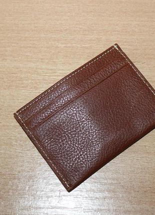 Визитница, картхолдер, кошелёк для  карточек marks & spencer кожа2