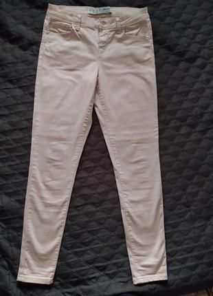 Нежно-розовые брюки штаны джинсы-скинни
