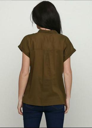 Рубашка цвета хаки без рукава2 фото