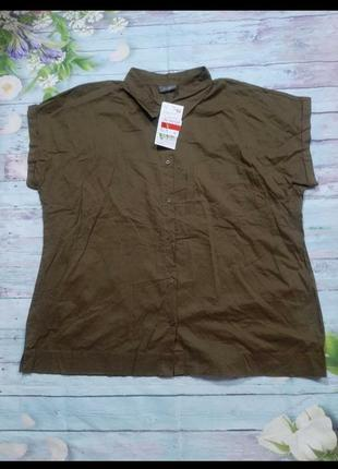 Рубашка цвета хаки без рукава3 фото