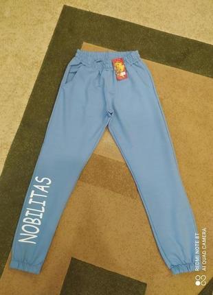 Голубые спортивные штаны штани брюки хс размер ххс