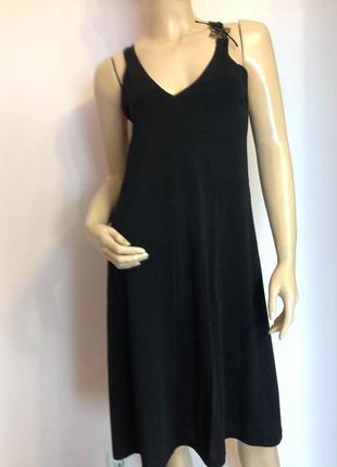 Дизайнерское шикарное чёрное платье/l/ brend didier parakian