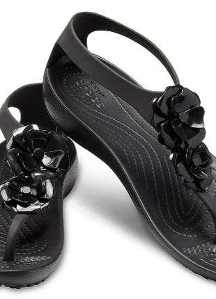 Босоножки сандали women's crocs serena embellished flip,w6