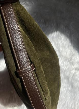 Замшевая сумочка необычной формы3 фото