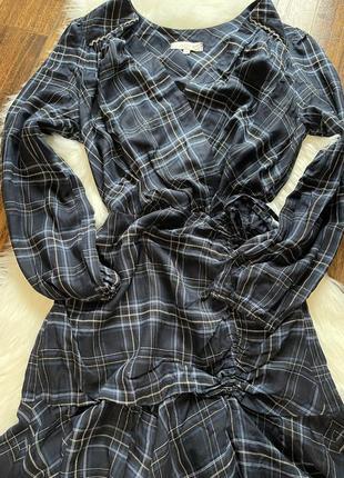 Lenny b/плаття/мини платье/платье в клетку/платье с рюшами/брендове плаття