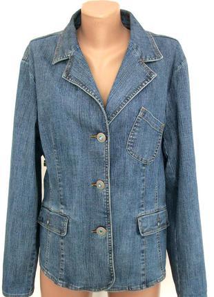 Джинсовый пиджак френч oliwa jeans на р.52-54