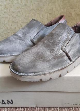 Туфли кожанные (мокасины) roan calon , us8.5, сша