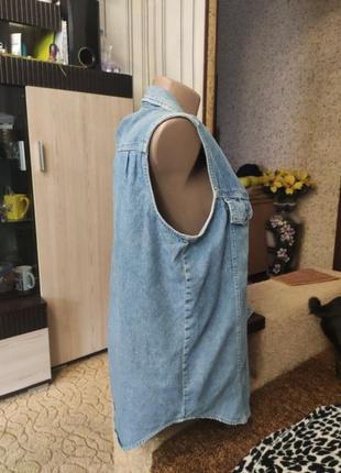 Джинсовая майка пиджак5 фото