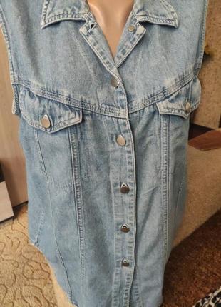 Джинсовая майка пиджак3 фото