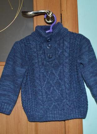 Вязаный свитер р.18-24 (92)