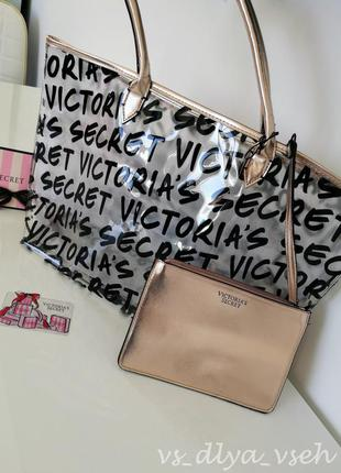 Яркая прозрачная сумка graffiti tote victoria's secret. оригинал. сша. victorias secret