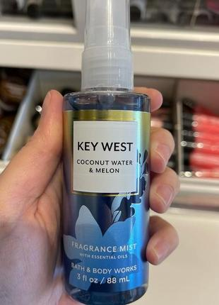 Мист для тела key west coconut water melon от bath and body works